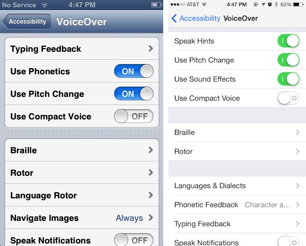 Peering At Ios 7 For The Vision Impaired Tidbits