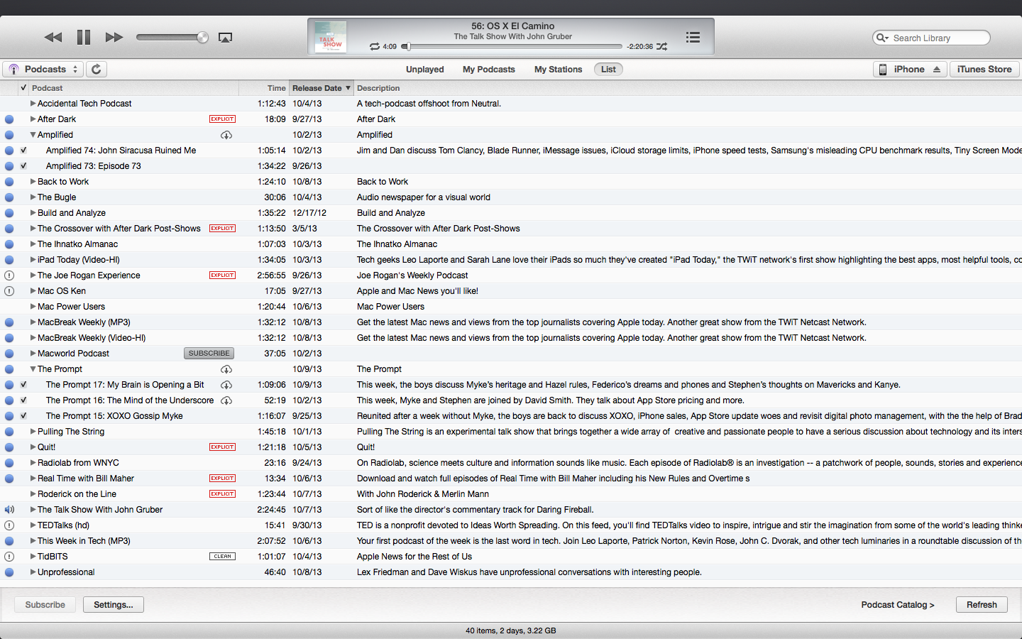 Explaining Podcasts in iTunes 11 1 - TidBITS