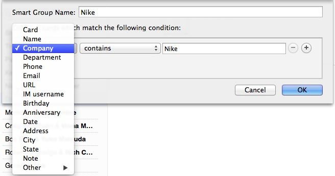 Making The Most Of Contacts In Mavericks Tidbits