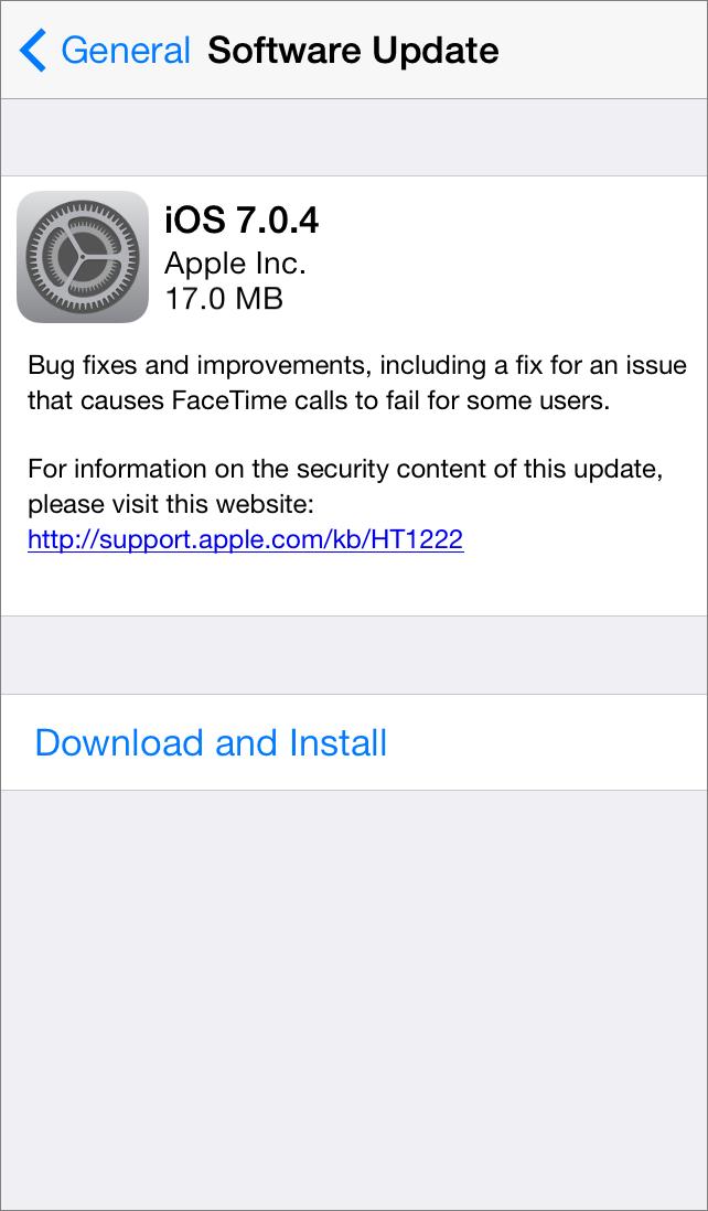 iOS 7 0 4 and iOS 6 1 5 Fix FaceTime Calls - TidBITS