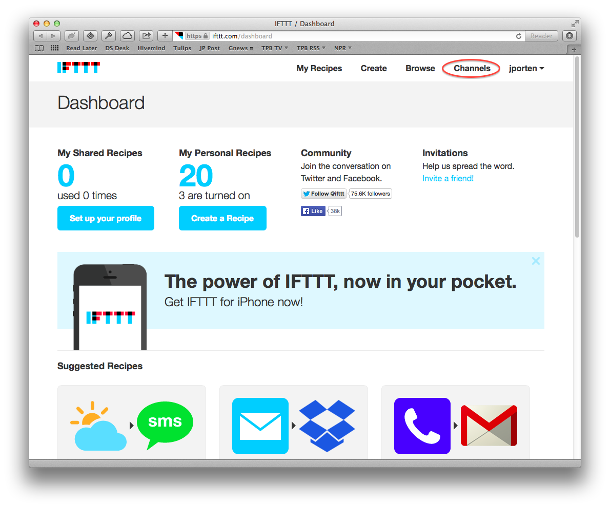 IFTTT Automates the Internet Now, but What Comes Next? - TidBITS
