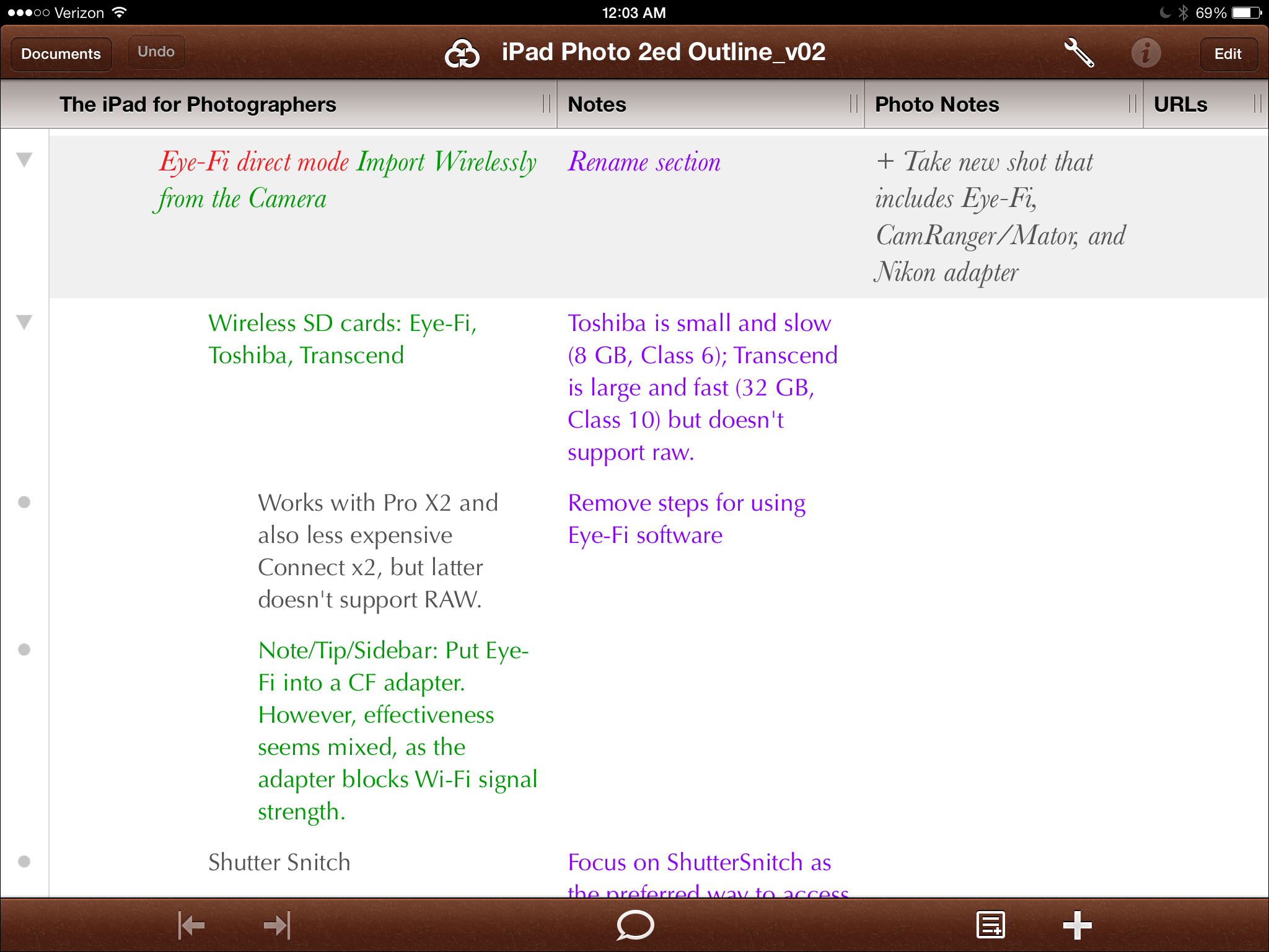 Omnioutliner 4 Refines The Outlining Process Tidbits