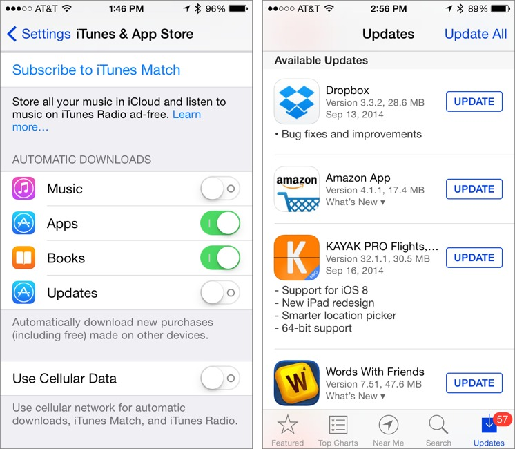 automatic updates iphone turn automatic ios app updates tidbits 10200