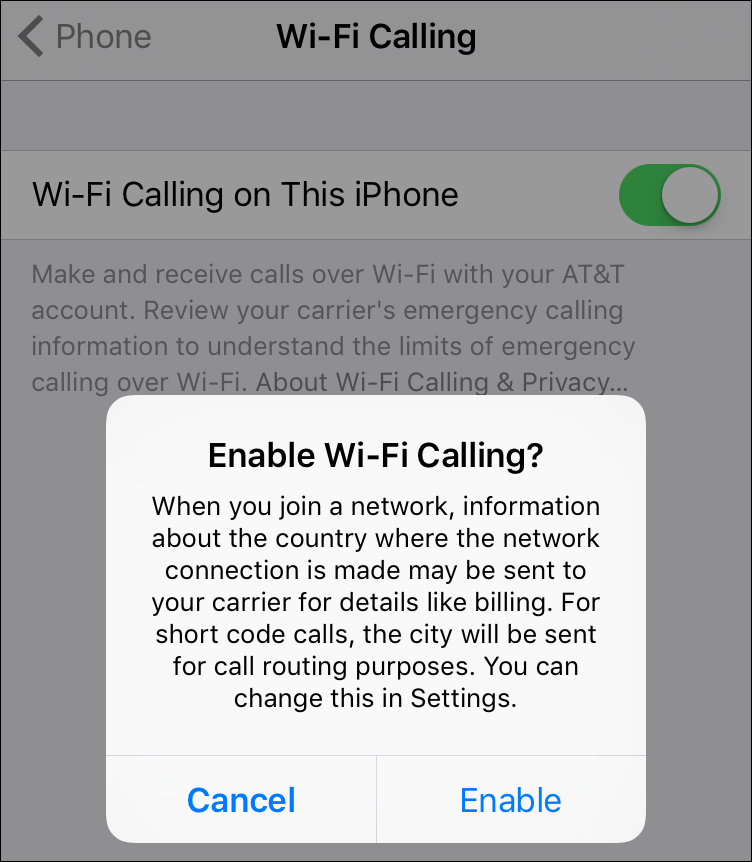 Turn on Wi-Fi Calling in iOS 9 - TidBITS
