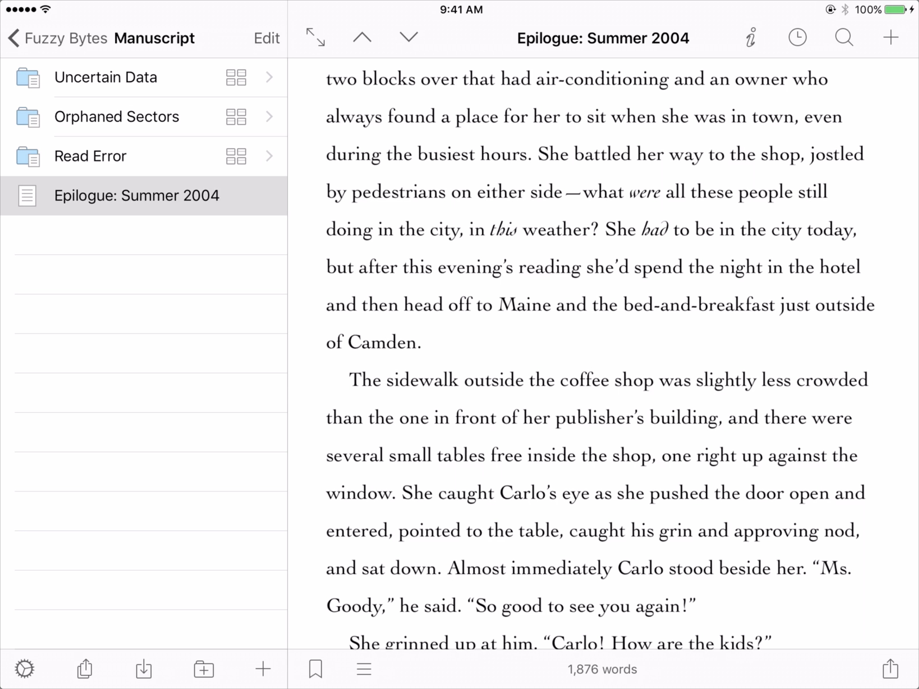 First Look At Scrivener For Ios Tidbits