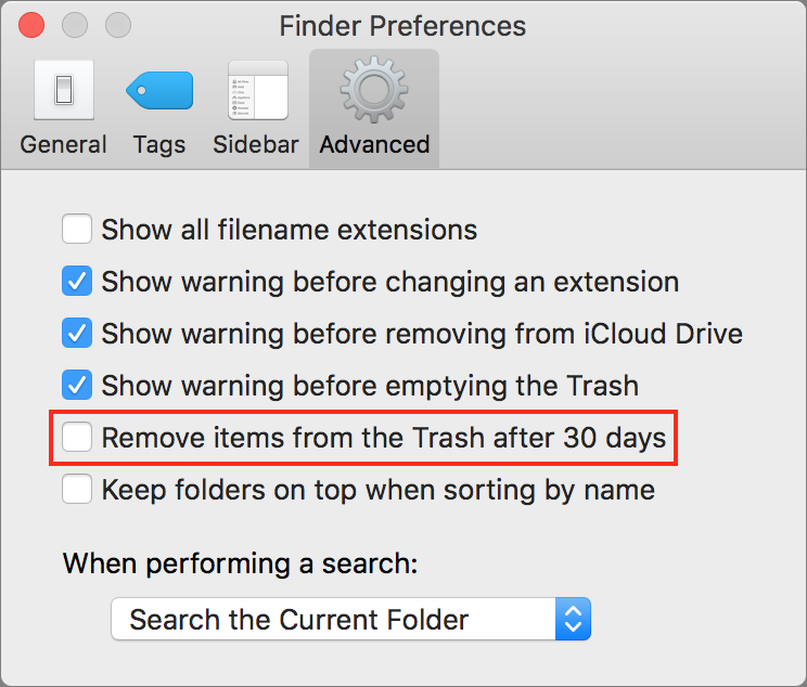 How to Turn Off Sierra's Optimized Storage - TidBITS