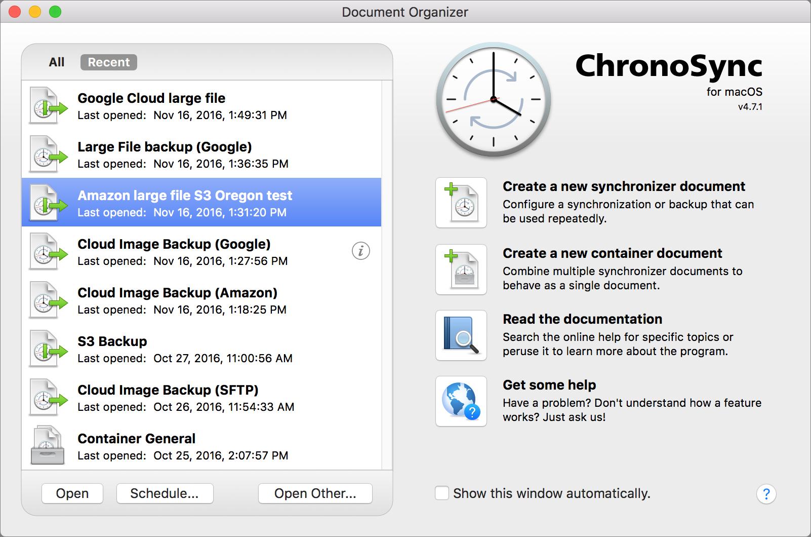 Investigating ChronoSync 4 7 for Cloud Backup - TidBITS