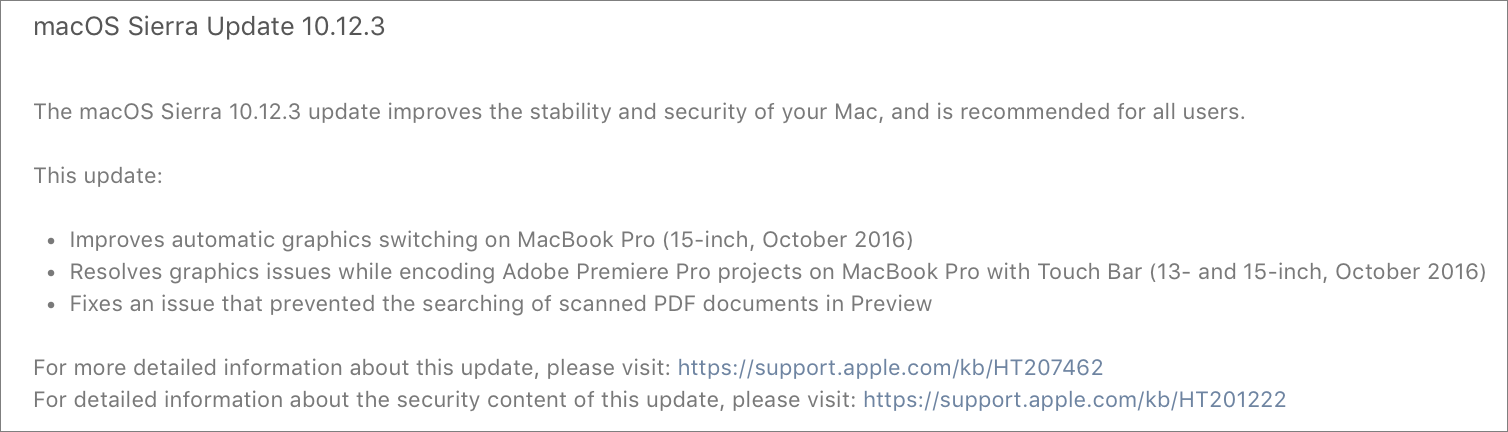 Apple Releases macOS Sierra 10 12 3, iOS 10 2 1, tvOS 10 1 1, and