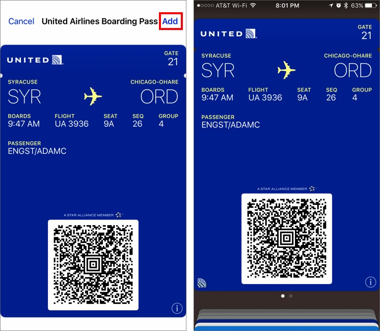 How to Set Up and Use Airline Boarding Passes in Wallet - TidBITS