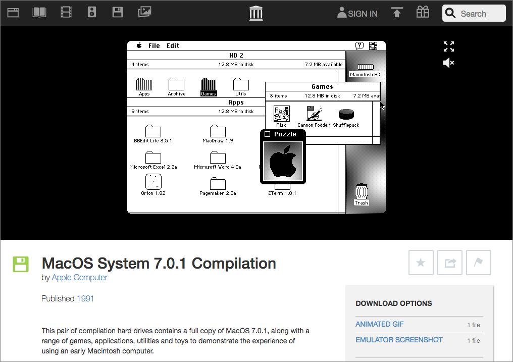 Internet Archive Hosts Functional Classic Mac Apps - TidBITS
