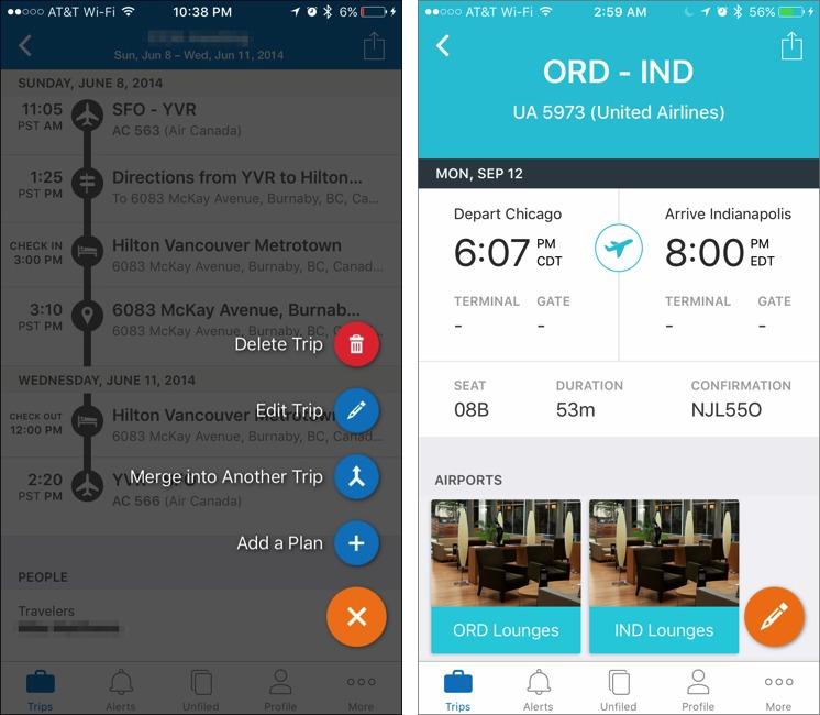 Comparing Five iOS Travel Management Apps - TidBITS