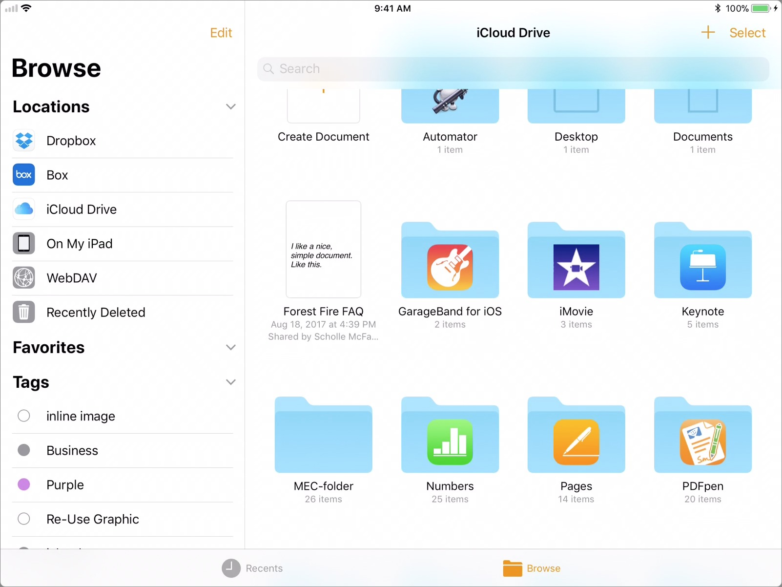 iOS 11 Brings New Document Manager to iWork - TidBITS
