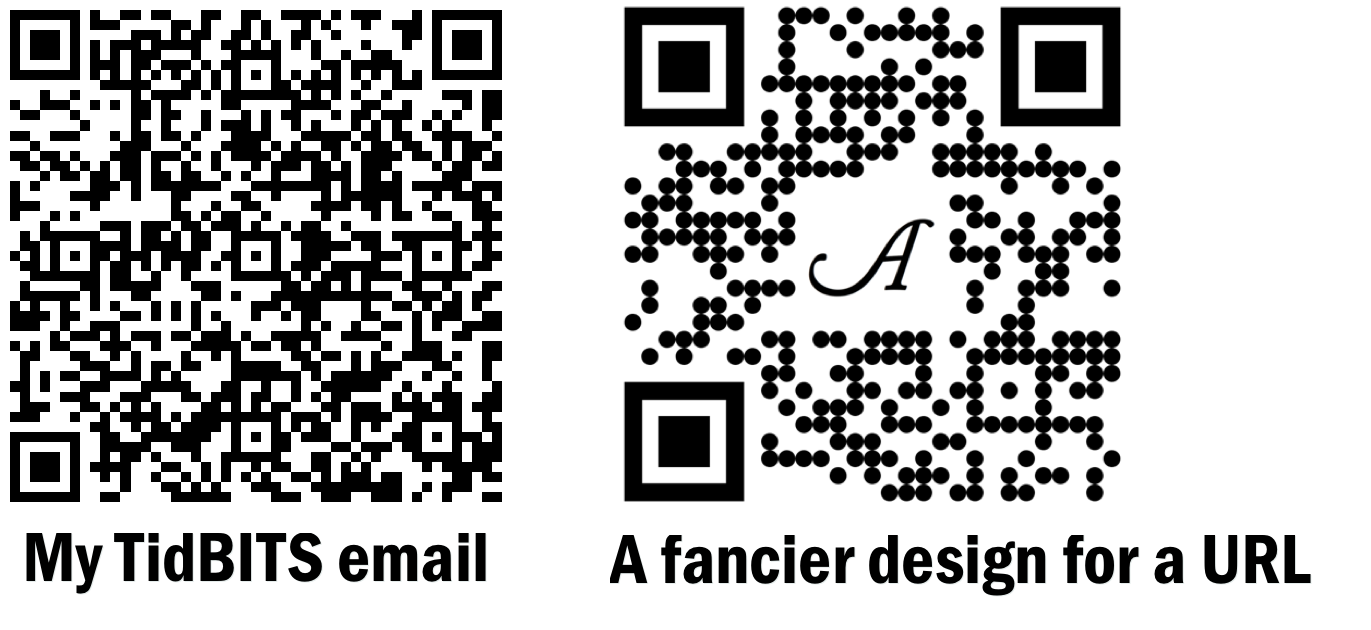 Practical Ways To Use QR Codes - TidBITS