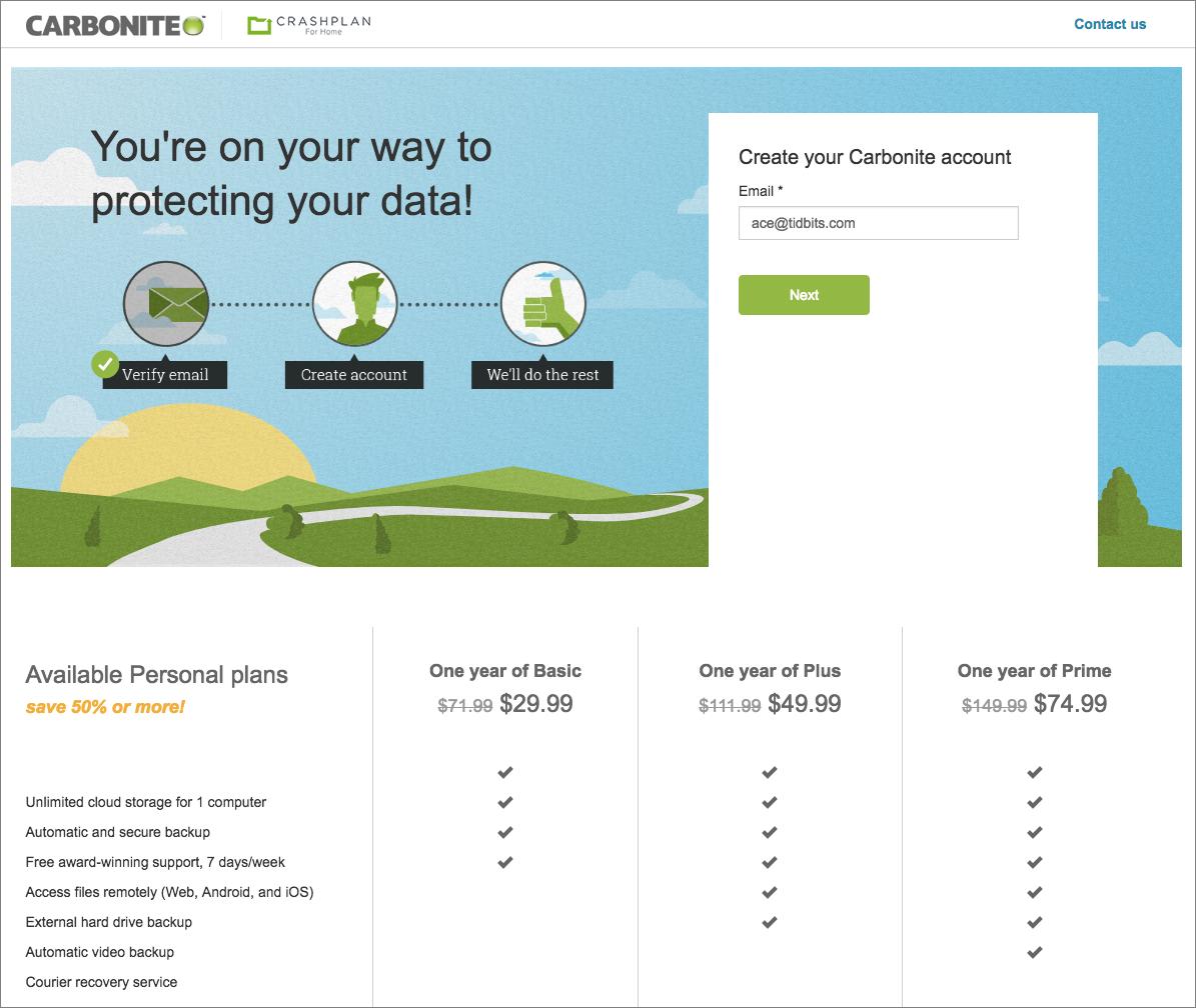 Carbonite Raises Online Backup Prices - TidBITS