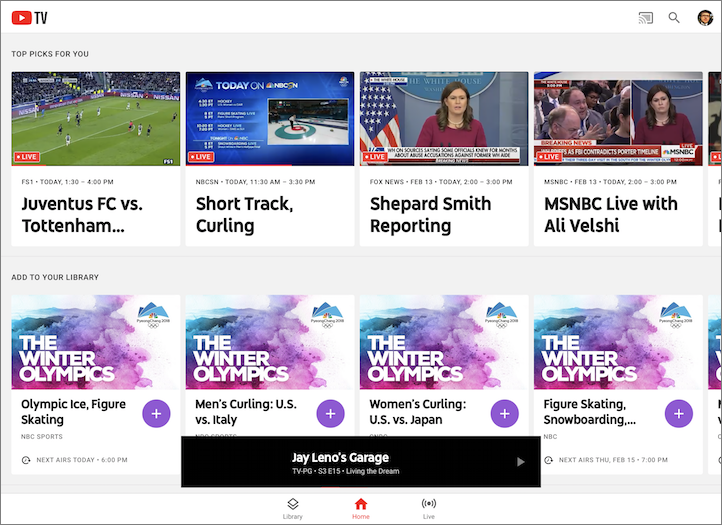 YouTube TV Is a Fresh and Clean Alternative to Cable - TidBITS