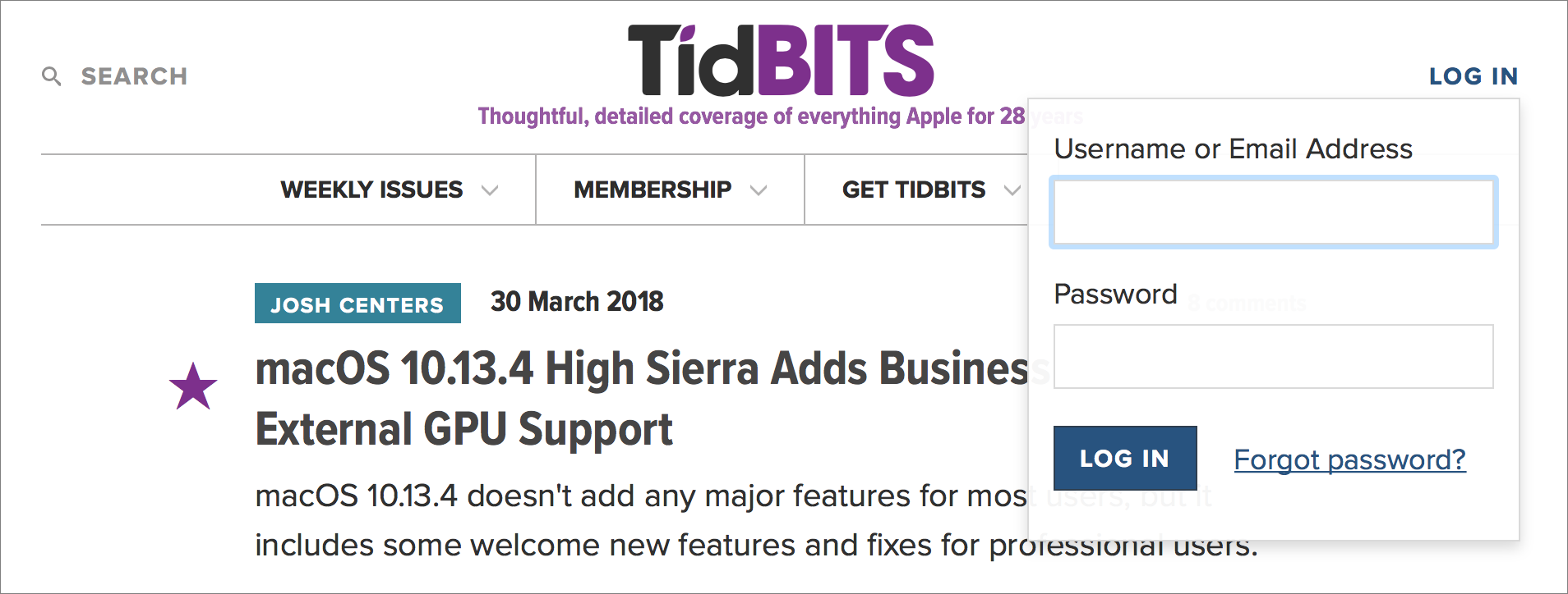 Everything You Need to Know about the TidBITS 2018 Infrastructure