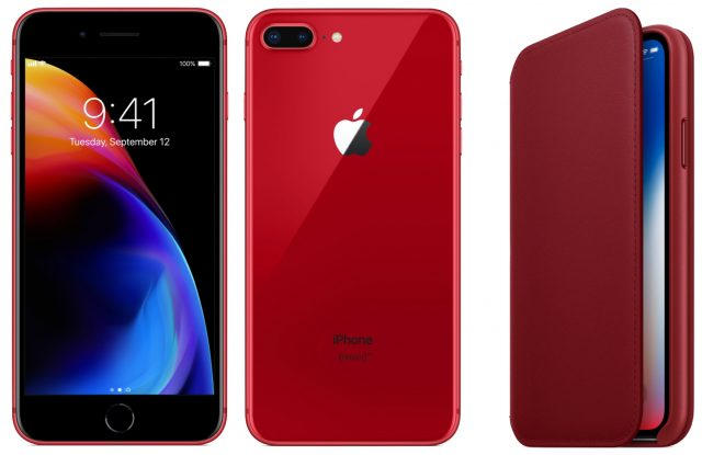 (PRODUCT)RED iPhone 8 and iPhone X Leather Folio