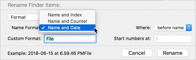 The Custom Format field.