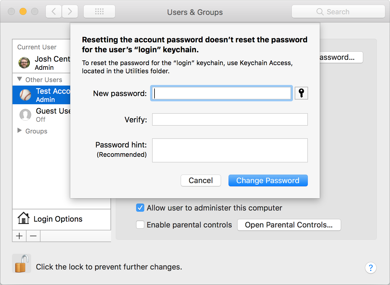 Three Ways to Reset a Lost Admin Password in High Sierra - TidBITS