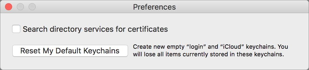 forgot keychain password mac 10.13.6