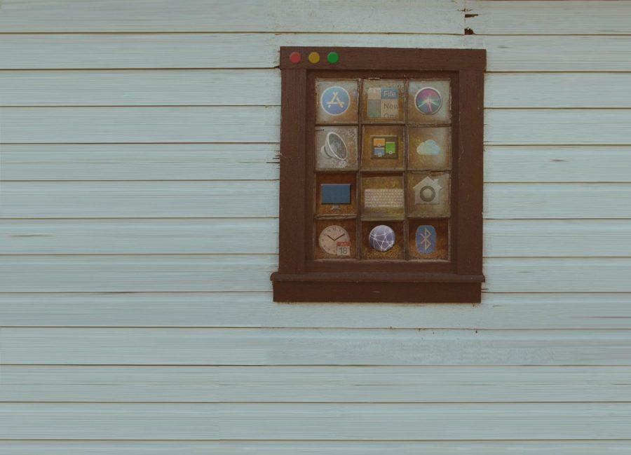 A real window made up like a macOS window.