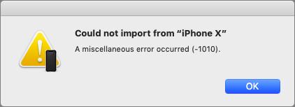 A Continuity Camera import error.