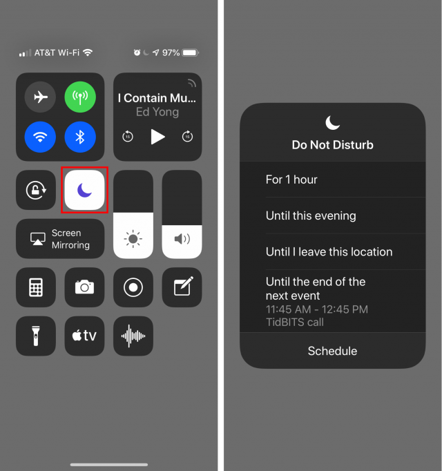 Do Not Disturb in iOS 12.