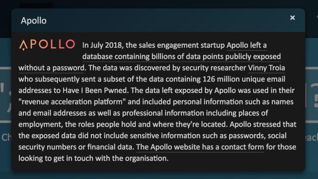 Description of the Apollo breach