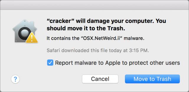 An XProtect warning.