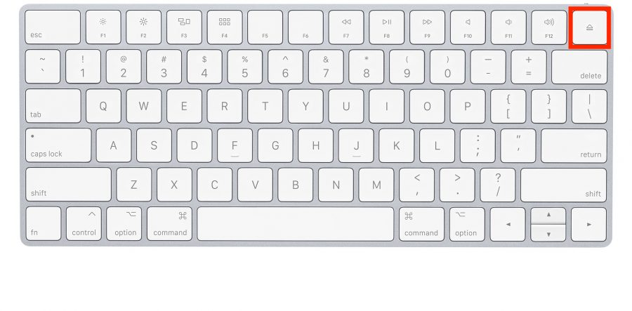 eject key on pc keyboard for mac