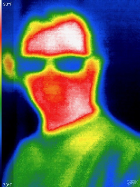 A thermal selfie of the author.
