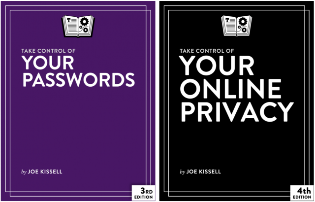 Take Control of Your Passwords and Take Control of Your Online Privacy book covers