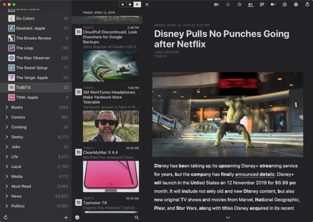 Reeder 4 article thumbnails.