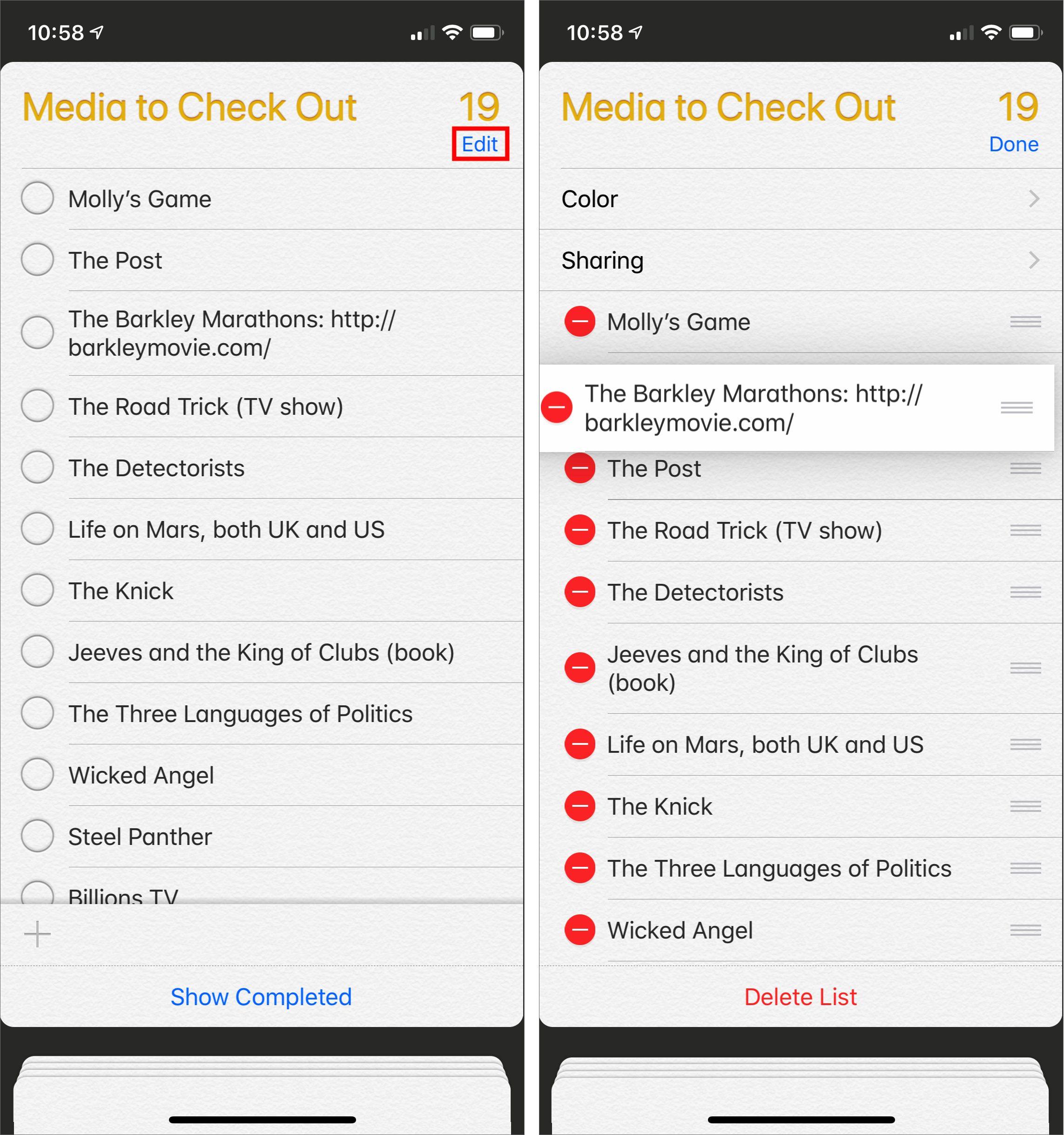 Bad Apple #4: Reminders Stinks at Sorting - TidBITS