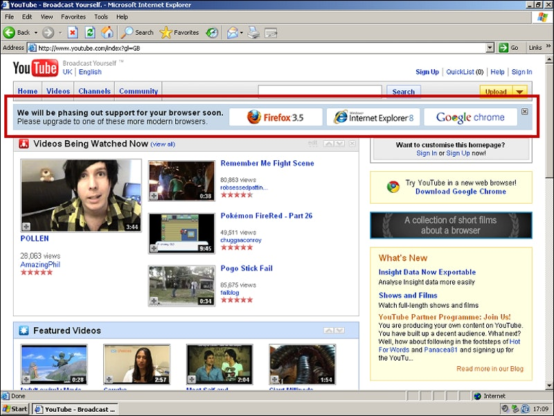 How Rogue YouTube Employees Killed Internet Explorer 6