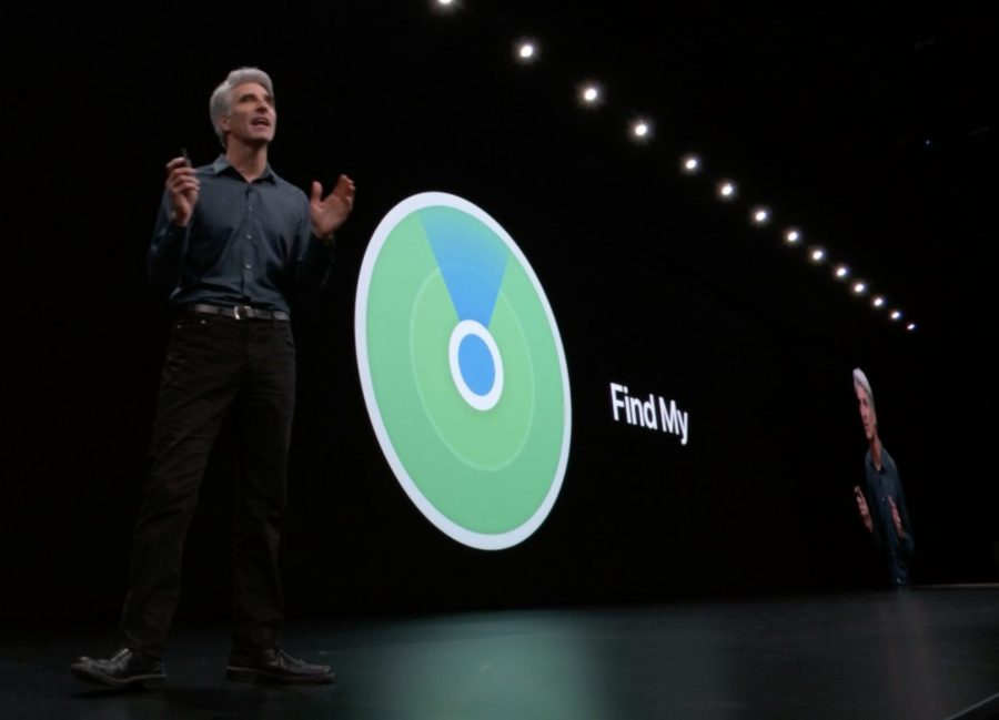Craig Federighi, Apple's senior vice president of Software Engineering, introduces the new Find My at WWDC 2019.