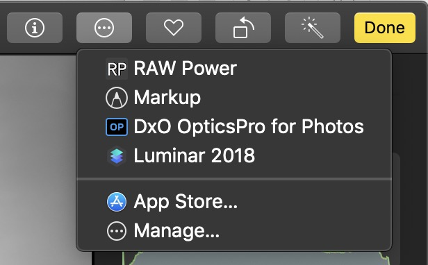 Accessing Photos extensions