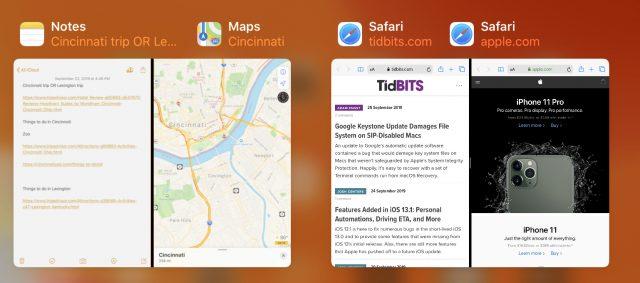 Multitasken met spaces bij het schakelen tussen apps