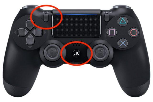 Pairing a PS4 controller