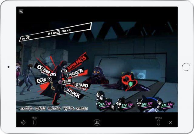 Persona 5 on an iPad