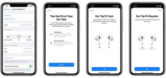 AirPods Pro Ear Tip Fit Test