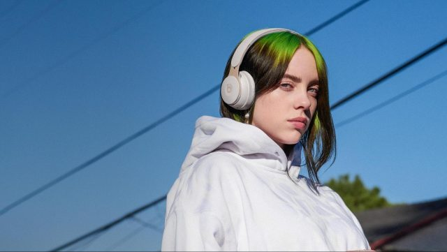 Girl wearing Solo Pro headphones