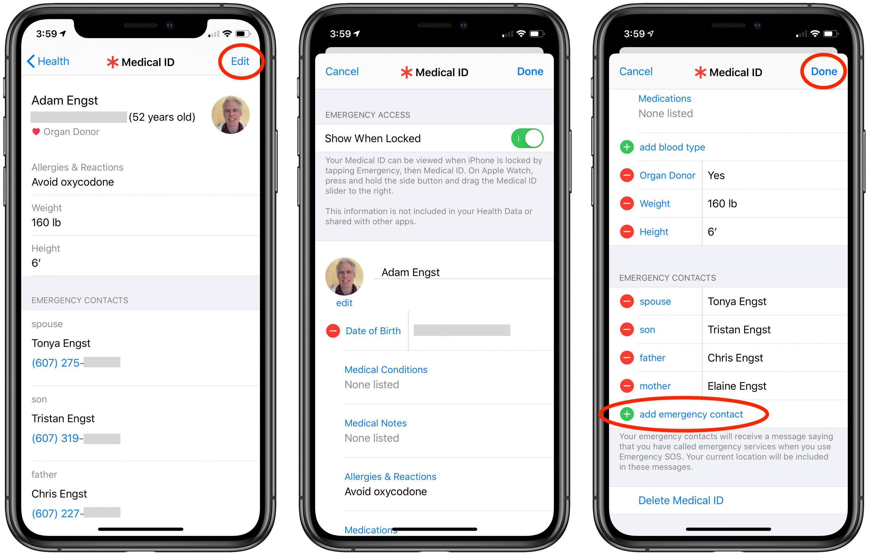 Double-Check Your iPhone's Medical ID Emergency Contacts - TidBITS