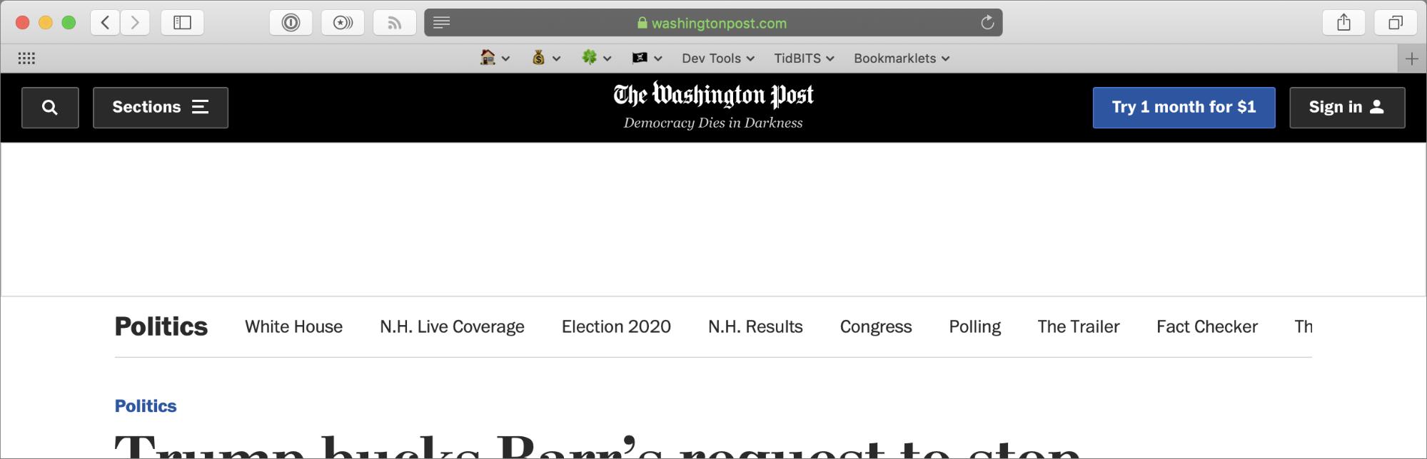 StopTheMadness working around The Washington Posts's block