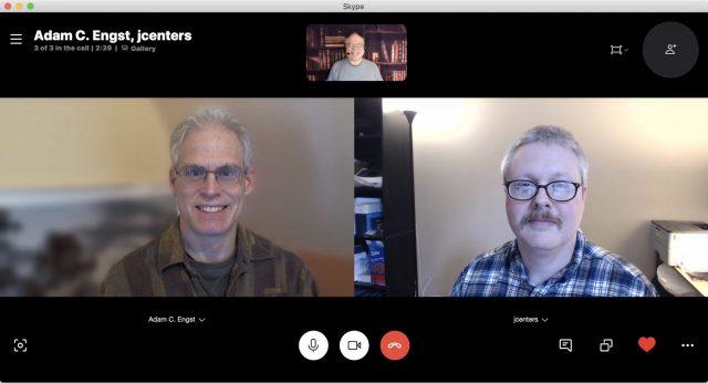 Adam, Josh, and Glenn on Skype