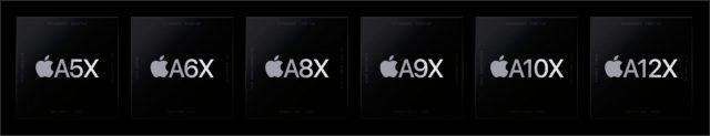 AX chips that power the iPad