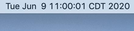 """A simple """"date"""" plug-in in BitBar."""