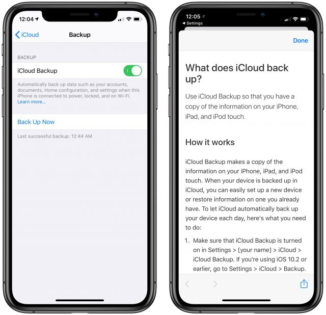iCloud Drive doesn't warn about the 180-day limit in its UI