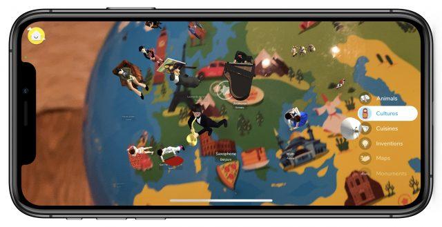 Cultures on the AR globe