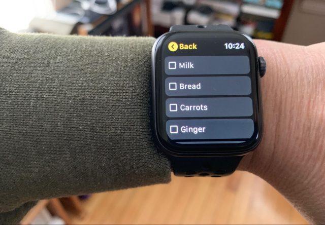 Google Keep on the Apple Watch